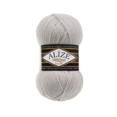 Alize Superlana klasik 208 Light Grey Melange (серый меланж)