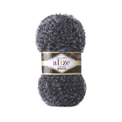 Alize Boucle 6030 Черно-Серый