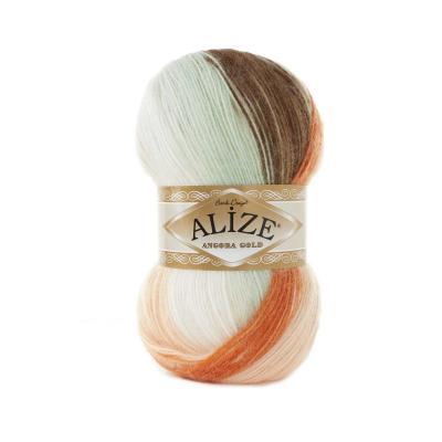 Alize Angora gold Batik 7103 Оранжевый, беж, кремовый