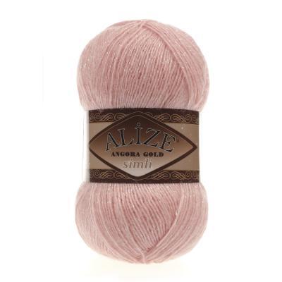 Alize Angora gold Simli 363 Wedding Pink (светлый розовый)