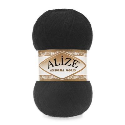 Alize Angora gold 60 Black (черный)