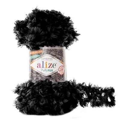 Alize Puffy fur 6101 черный