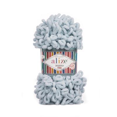 Alize Puffy fine 500 grey (серый)