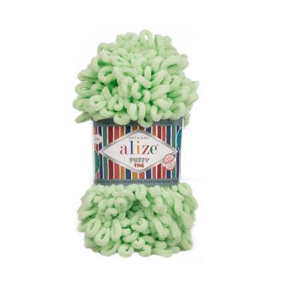 Alize Puffy fine 516 green (пастельно-зеленый)