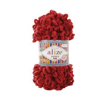 Alize Puffy fine 56 Red (красный)