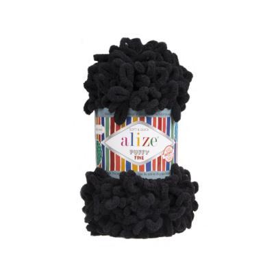 Alize Puffy fine 60 black (черный)