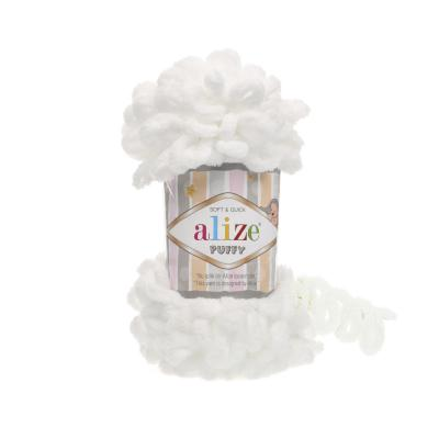 Alize Puffy 55 White (белый)