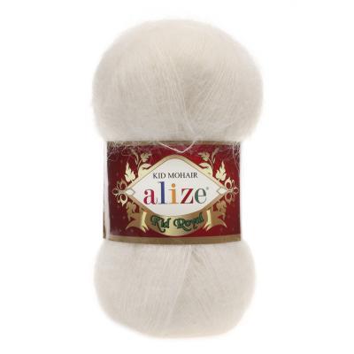 Alize Mohair Kid Royal 50 62 Cream (молоко)