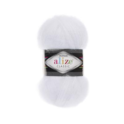 Alize Mohair classic 55 White (белый)