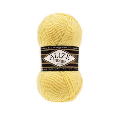 Alize Superlana klasik 187 Light Yellow (лимонный)