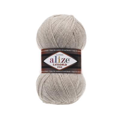 Alize Lanagold fine 152 Beige Melange (беж меланж)