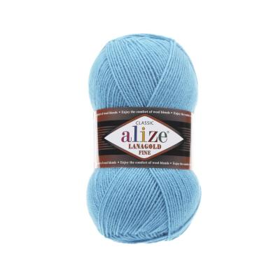 Alize Lanagold fine 287 Turquoise (бирюза)