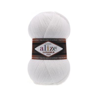 Alize Lanagold fine 55 White (белый)