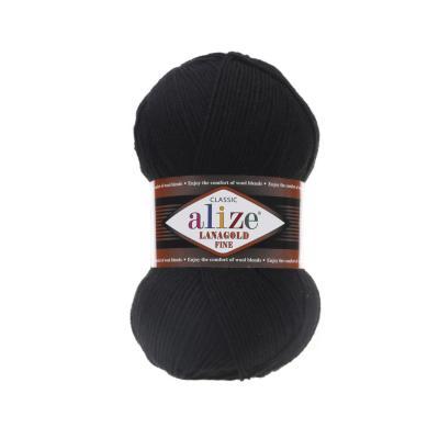 Alize Lanagold fine 60 Black (черный)