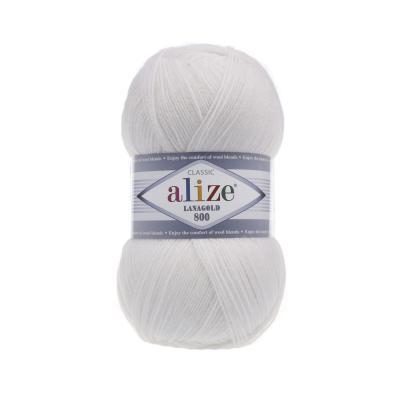 Alize Lanagold 800 55 белый