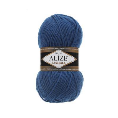 Alize Lanagold 155 Mykonos Blue (темная бирюза)