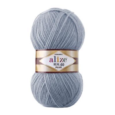 Alize Angora Real 40 plus 221 Light Denim Melange (св. джинс)