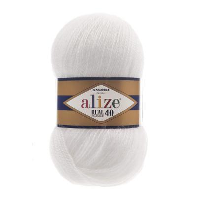 Alize Angora Real 40 55 White (белый)