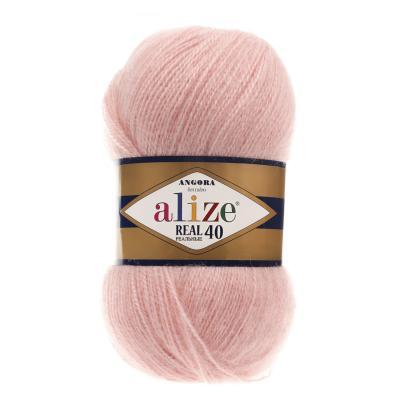 Alize Angora Real 40 363  Wedding Pink (пудра)