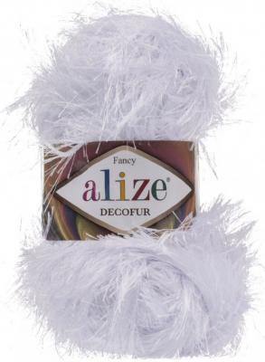 Alize Decofur травка 55 белый
