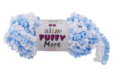 Alize Puffy More 6266 неж.голубой/белый