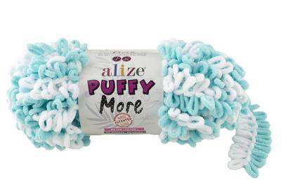 Alize Puffy More 6269 мята/белый