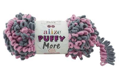 Alize Puffy More 6281 серый/розовый