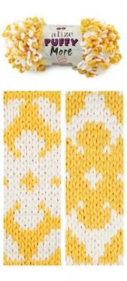 Alize Puffy More 6282 желт/белый