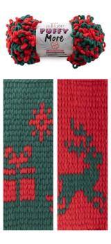 Alize Puffy More 6292 зеленый/красный